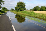 Flooded road near Clanfield